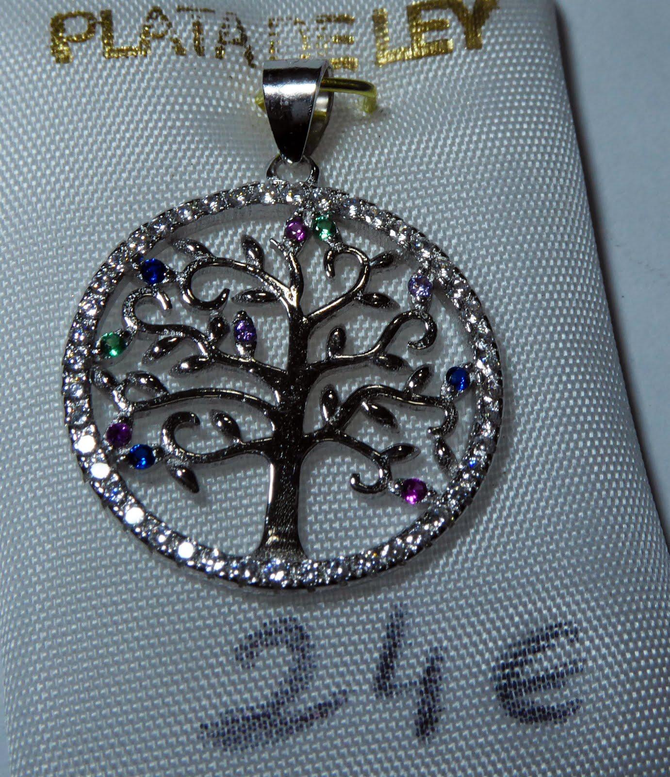 Colgante del Árbol de la Vida en plata