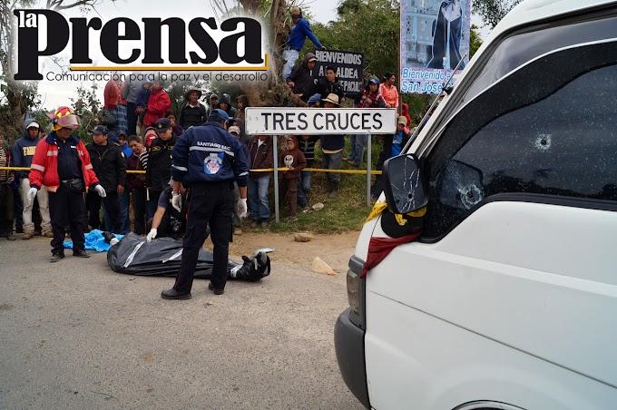 Piloto de Santiago Sacatepéquez asesinado a tiros  en plena ruta