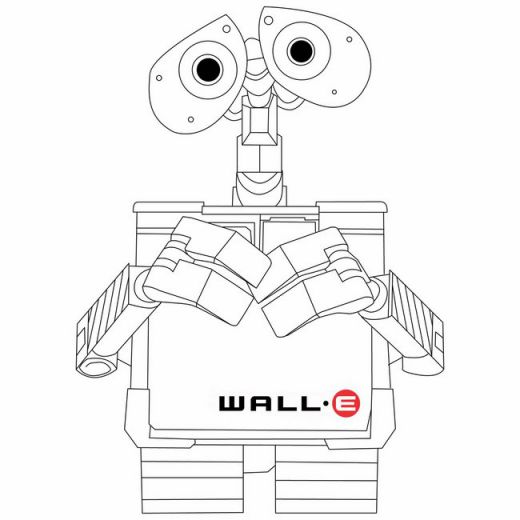 Fun Coloring Pages: Disney Wall-E Coloring Pages