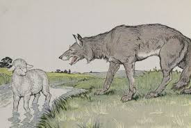 El lobo herido y la oveja fábula con moraleja de Esopo