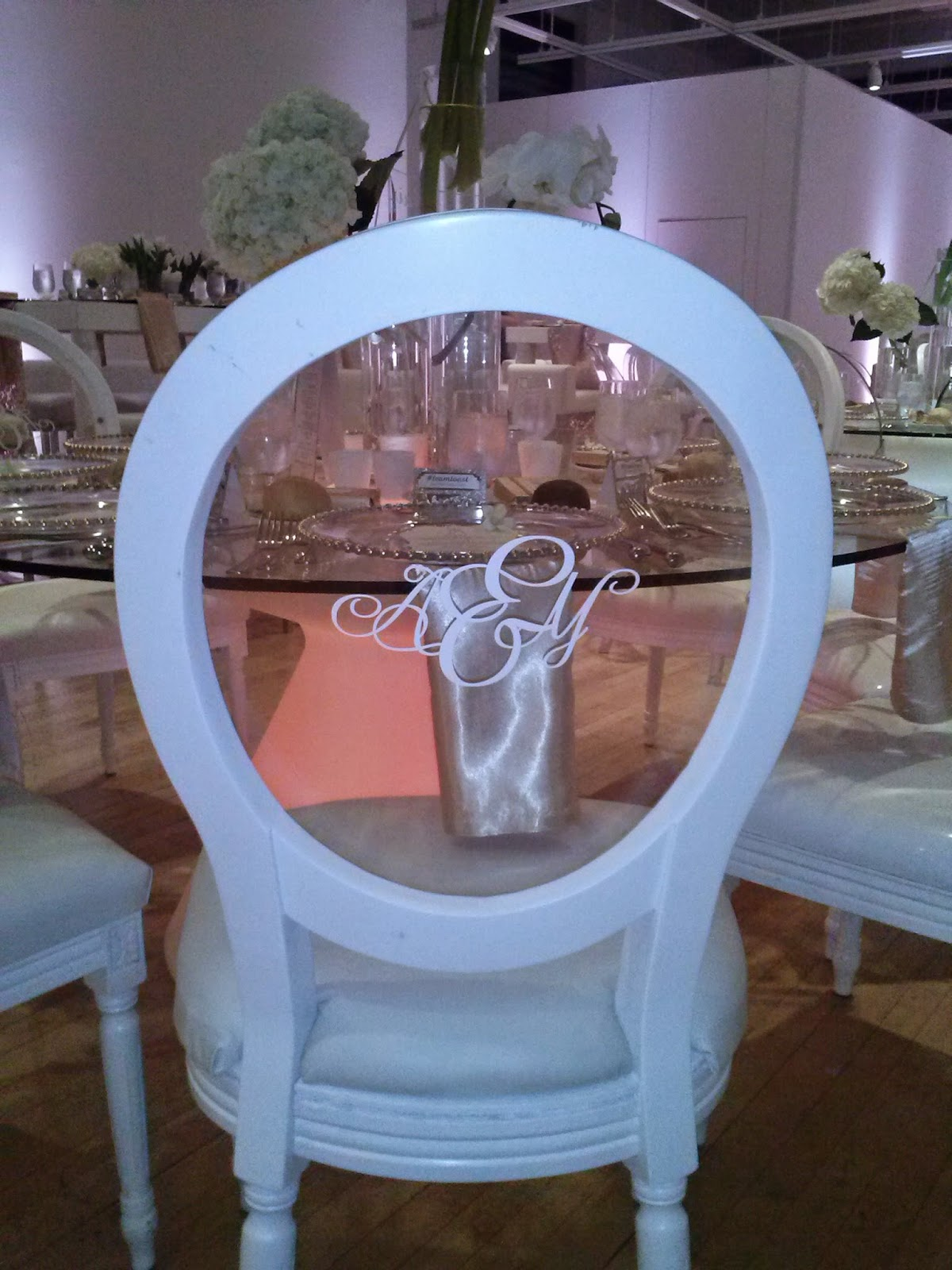 Monogram on ghost chair