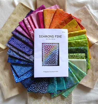 30 forskellige balistoffer skal bruges til Diamond Fire tæppet