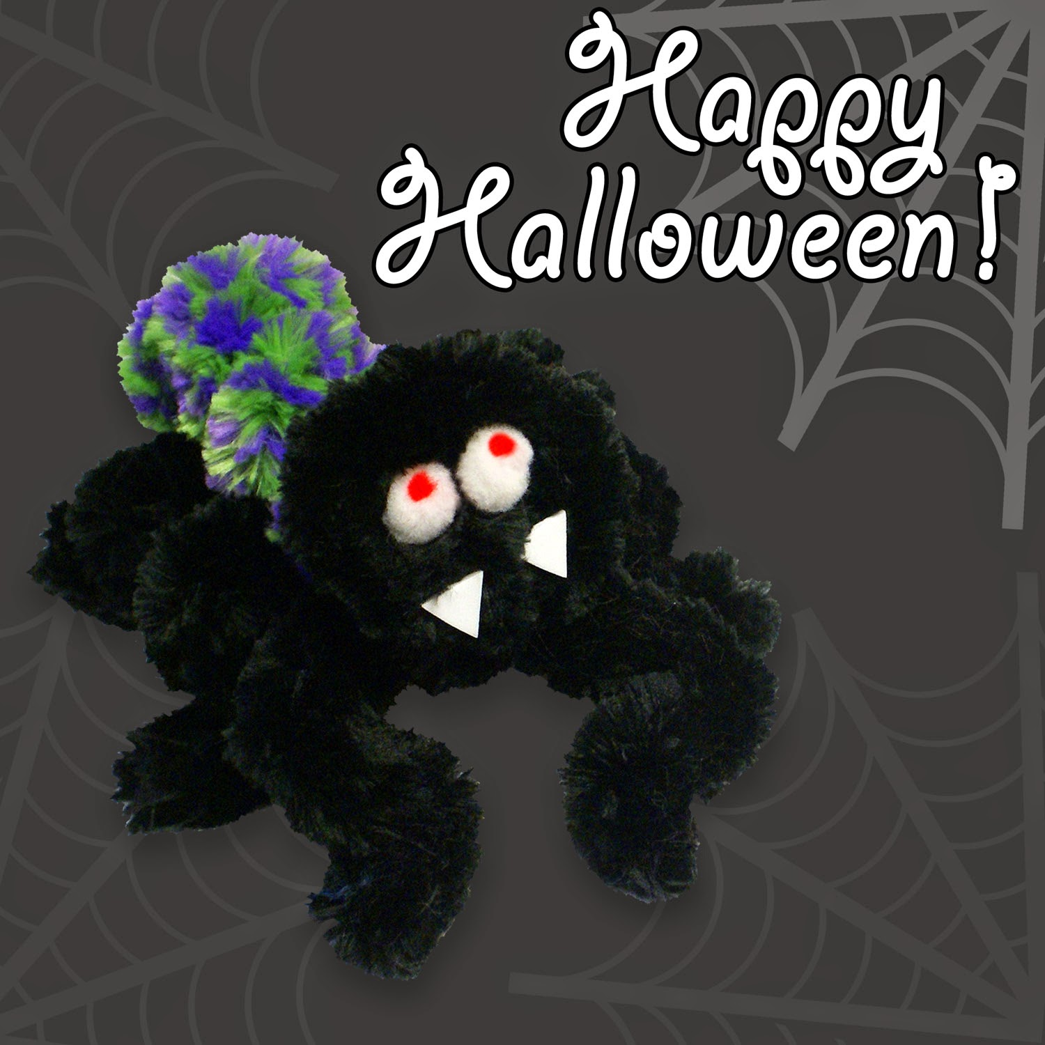 Happy Halloween! Noodle Spider from Pepperell Braiding Company