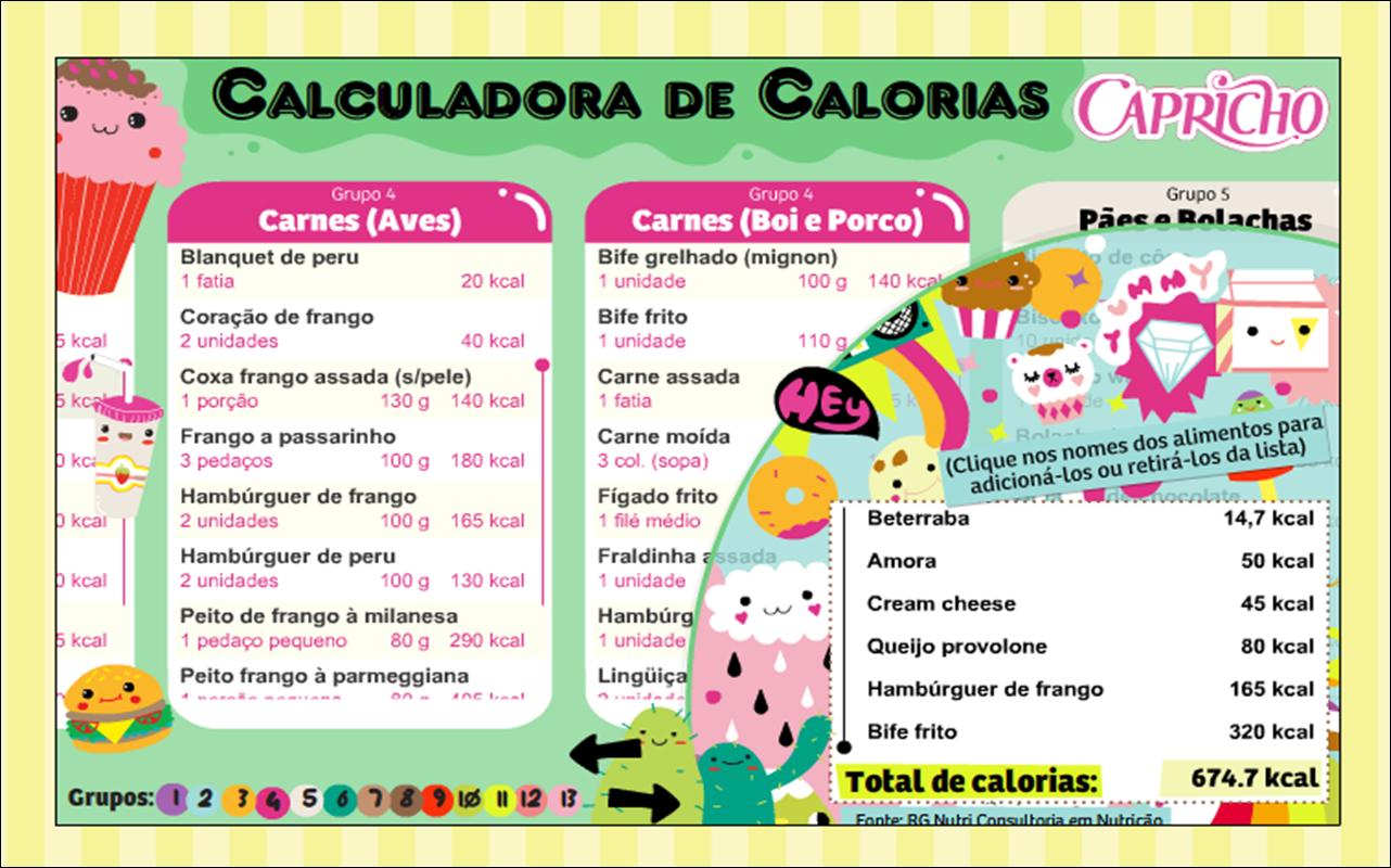 Tava de dieta calculadoras de kcal - Calorias que tienen los alimentos ...