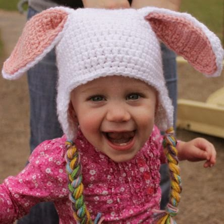 Crochet Pattern Bunny Hat : Tracys Crochet Bliss: Easter Mohawk Hat!