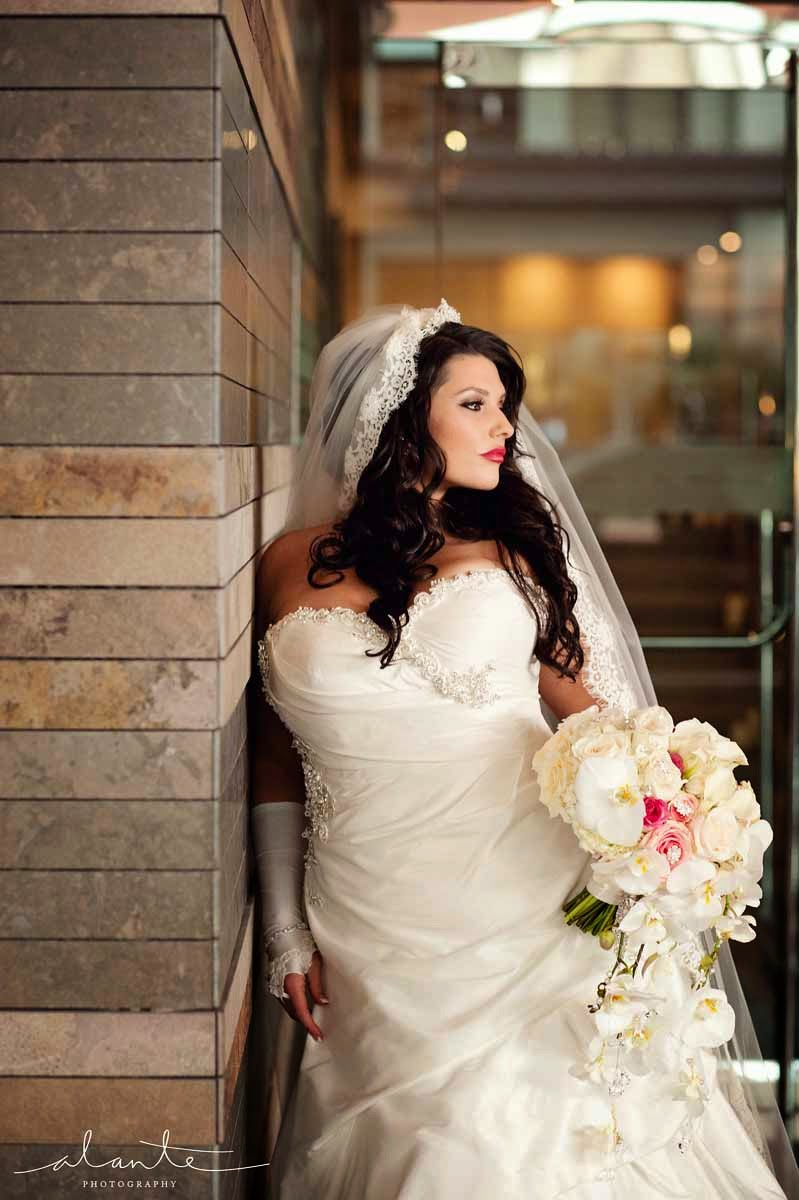 Four Seasons Hotel Seattle wedding, bridal bouquet