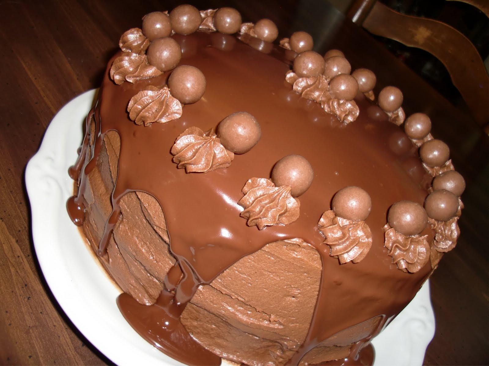 Amy's Goodies: Chocolate Malt Cake