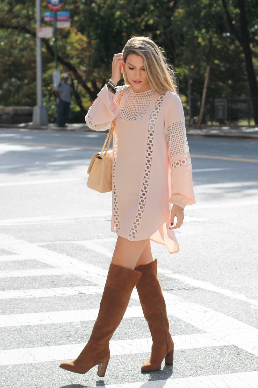 brown suede knee high boots, dressed for dreams