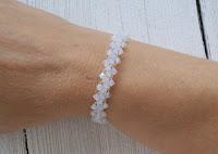 Opal Birthstone Swarovski Crystal Wire Crochet Braidlet