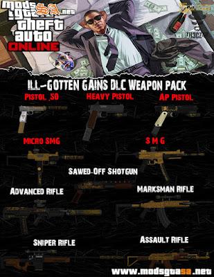 SA - Pack de Armas DLC ILL-GOTTEN GAINS do GTA V