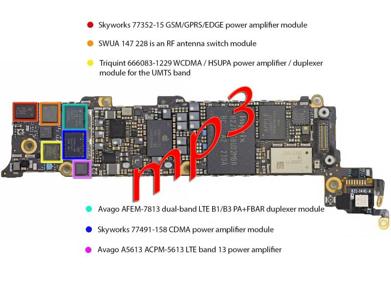 iphone5 motherboard layout with parts definition gsmhosters iPhone 5 Schematic Board iPhone 5S Logic Board Diagram