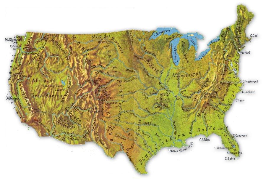 Gli Stati Uniti Geografia Gli Stati Uniti D'america