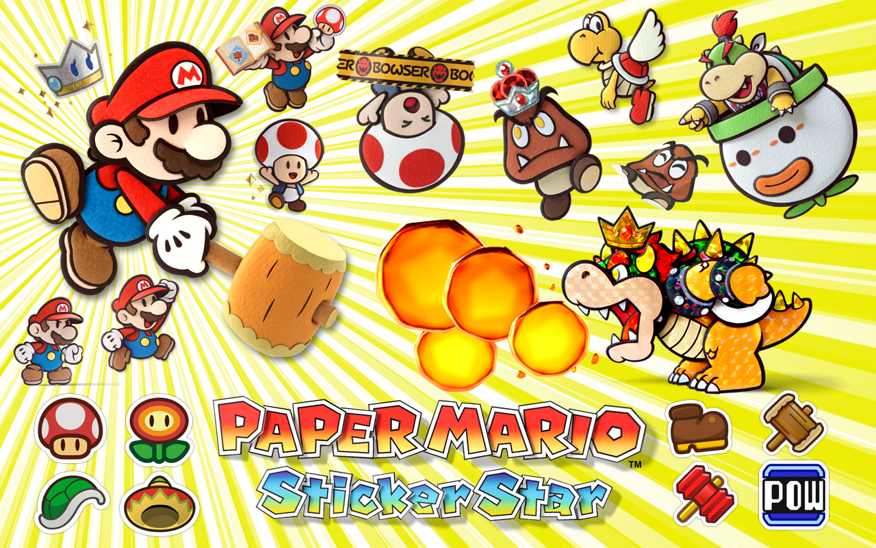 Paper mario sticker star sprites