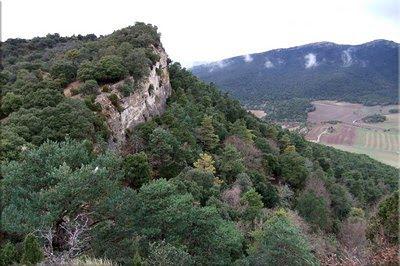 Vista de la cima de Olvedo desde la zona de San Andrés
