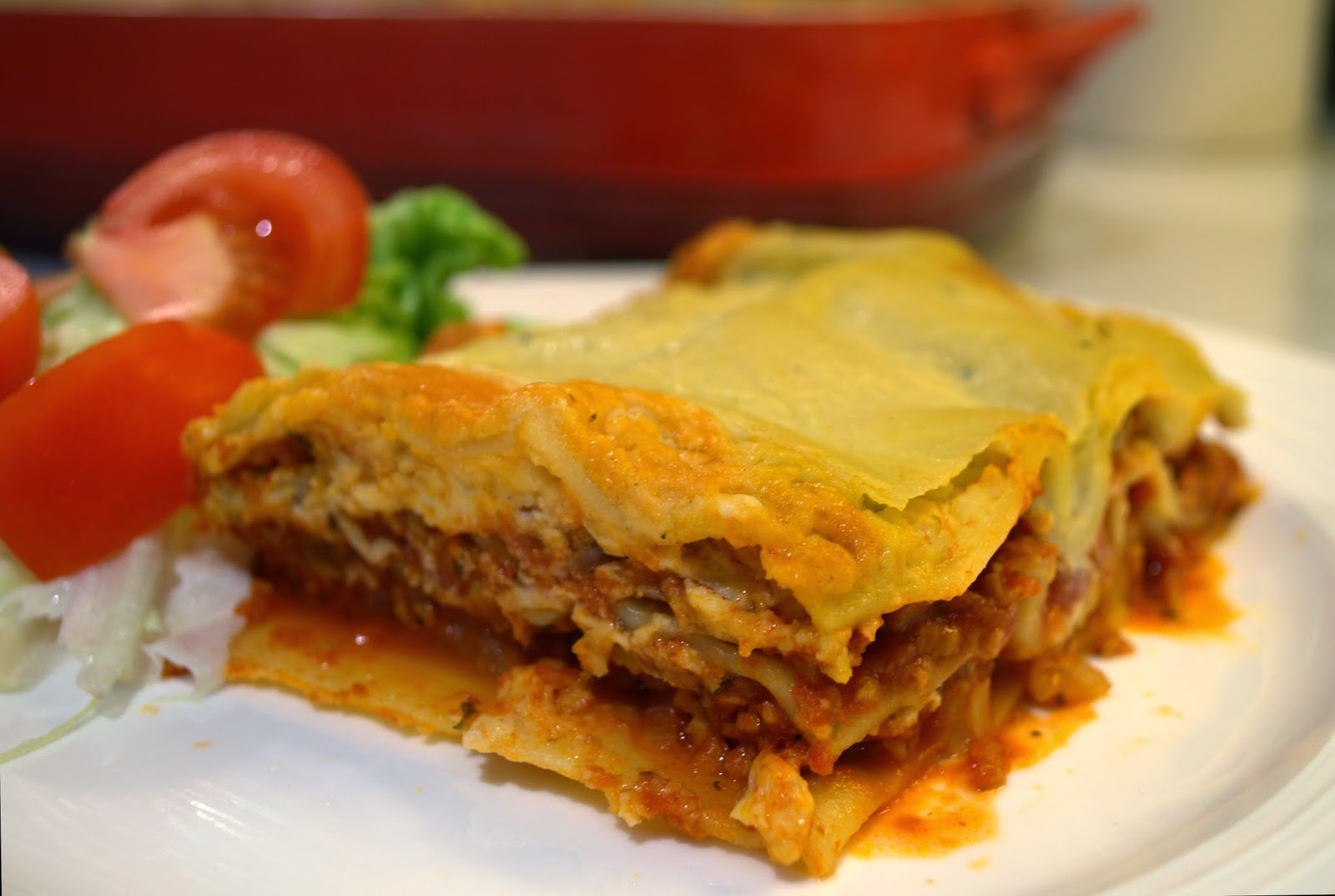 Vegan traditional lasagne