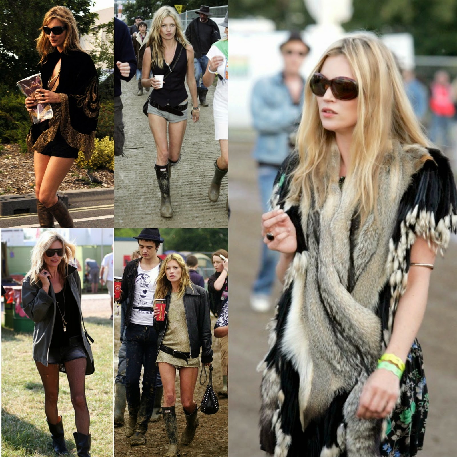 Kate Moss Music Festival Fashion