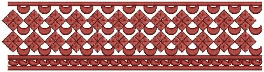 aantreklike Kantborduurwerk patroon