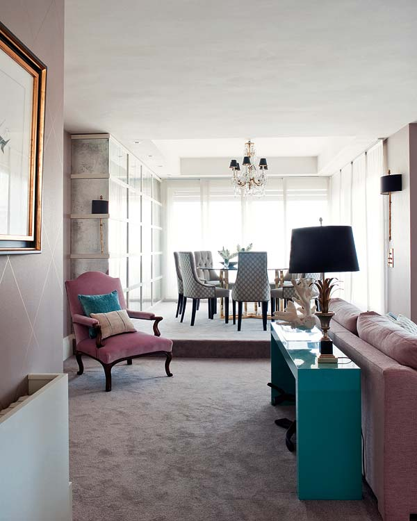 New Home Interior Design: Dusty Rose and Turquoise