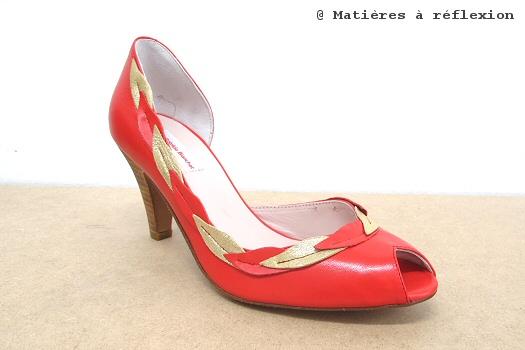 Escarpins Dante en cuir rouge Patricia Blanchet