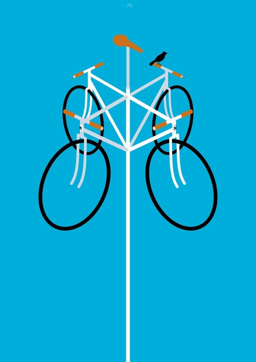 10-Go With The Wind-Thomas-Yang-100copies-Emoji-Bicycle-Themed-Drawings-www-designstack-co
