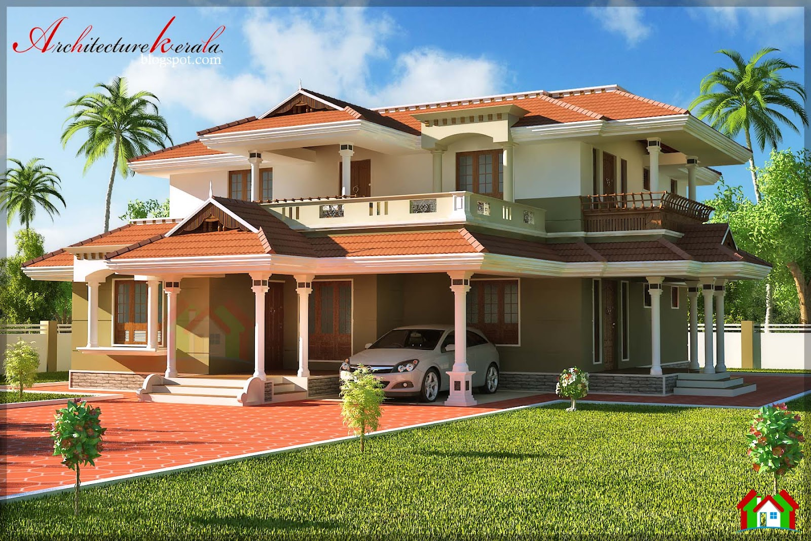 Bed room traditional style house design architecture kerala for Classic home plans