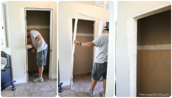 Project Entryway Closet Makeover Part 1 Demo