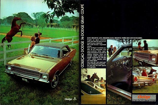 propaganda Chrysler Dodge Gran Coupe 74 - 1973