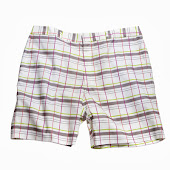 Plaid White Shorts