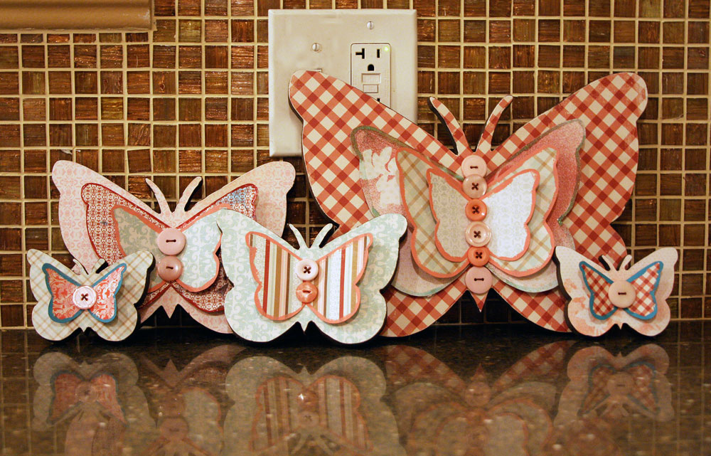 Pamela's World of Scrap: My Butterfly Home Decor