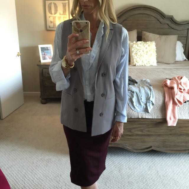 blazer vest gray