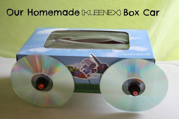 crayon freckles our homemade kleenex box car. Black Bedroom Furniture Sets. Home Design Ideas
