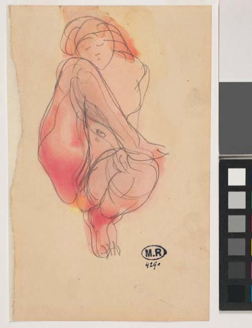 Femme nue assise, un pied posé de haut sur un genou, © Musée Rodin - Photo Jean de Calan
