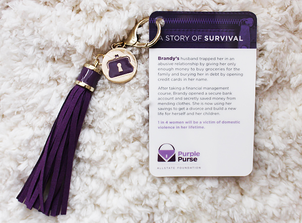 domestic abuse information help aid allstate purple purse foundation financial emotional physical help