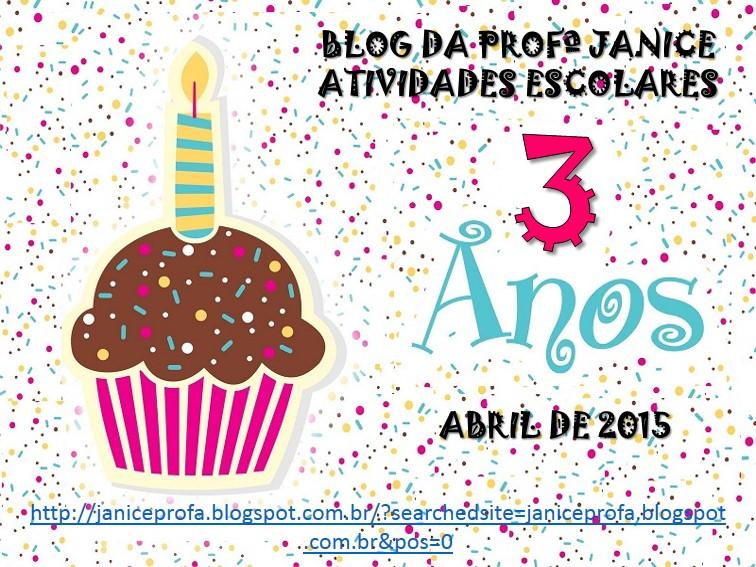 3 ANOS DE BLOG - FELIZ ANIVERSÁRIO!