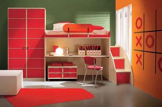 Dormitorios para ni os de dise o minimalista y colorido - Dormitorios infantiles ninos 7 anos ...