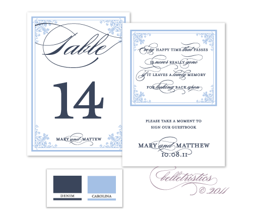 printable diy blue navy table numbers reception stationery design