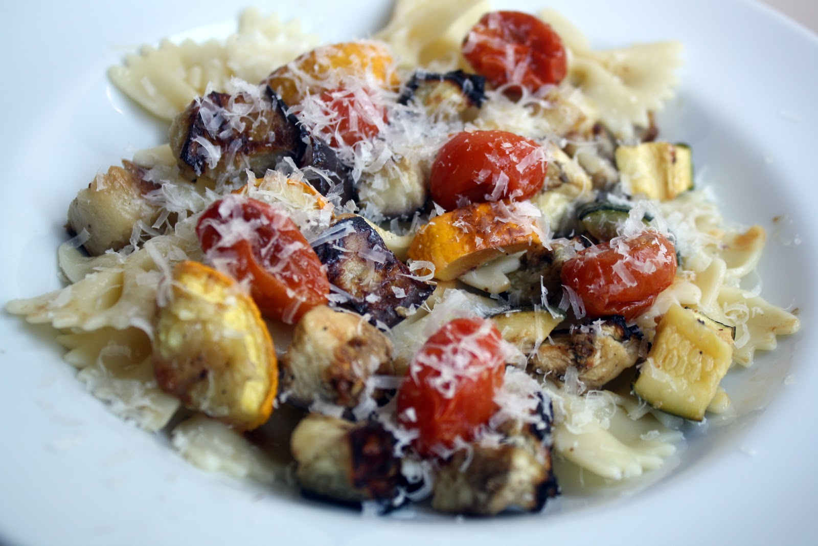 pasta with summer squash zucchini eggplant and tomatoes pasta with ...