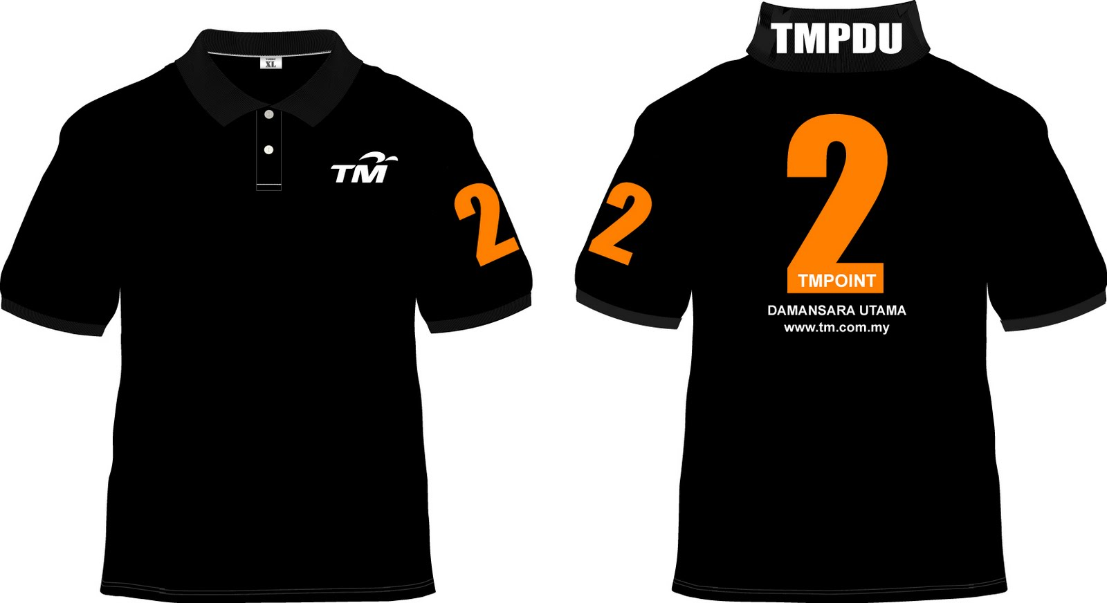 Black Polo T Shirt Template