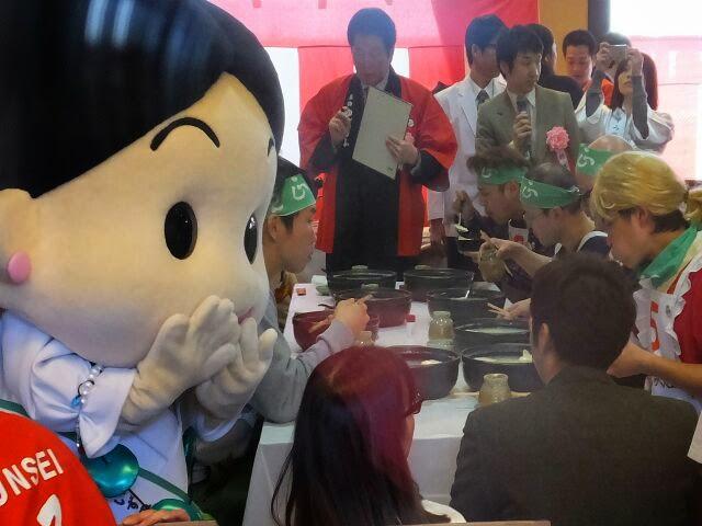 大阪和泉町ゆるキャラも応援。