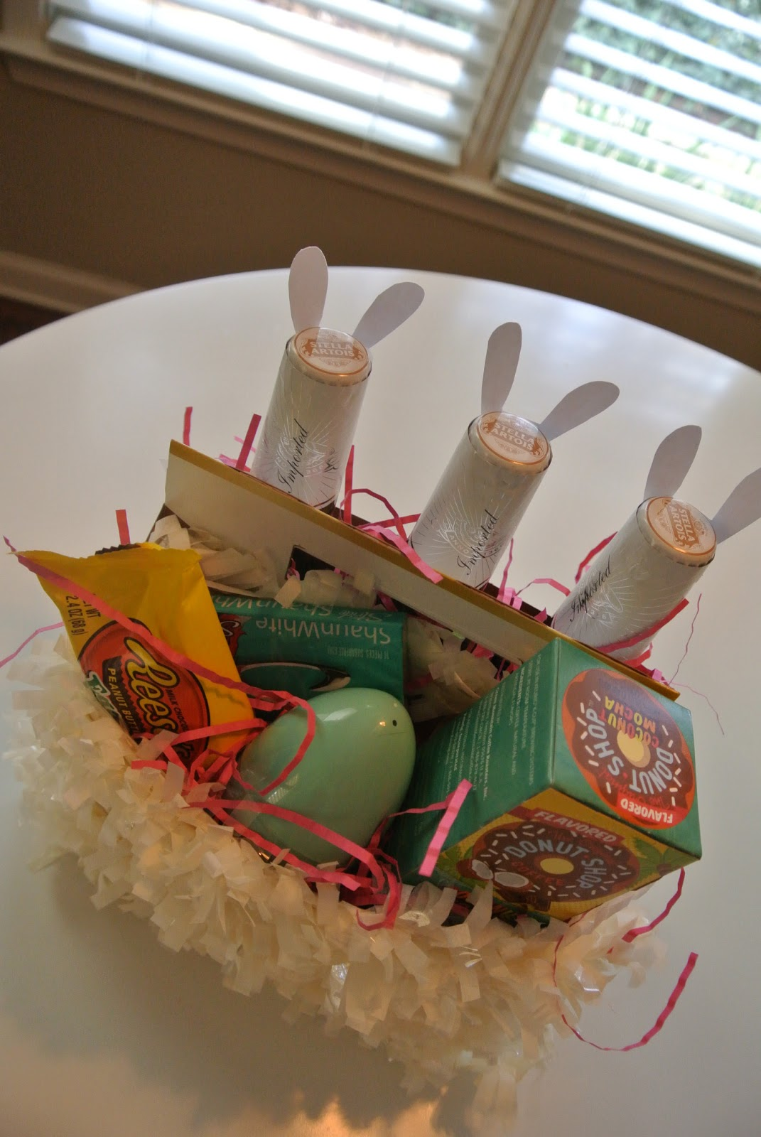 Easter basket making garvinandco beer easter basket negle Choice Image