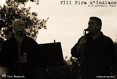 Xavi Jonama i pere Molina del grup L'Empordanet a la Fira d'Indians de Begur
