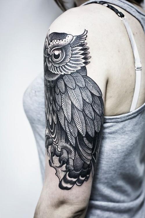 my owl barn 10 beautiful owl tattoos rh myowlbarn com Owl Tattoo Designs vintage owl tattoo designs