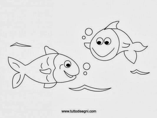 Disegni pesci da colorare for Disegni di pesci da colorare e stampare