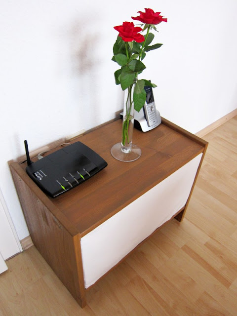 IKEA Rast nightstand for cable management