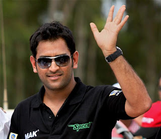 MS Dhoni in black