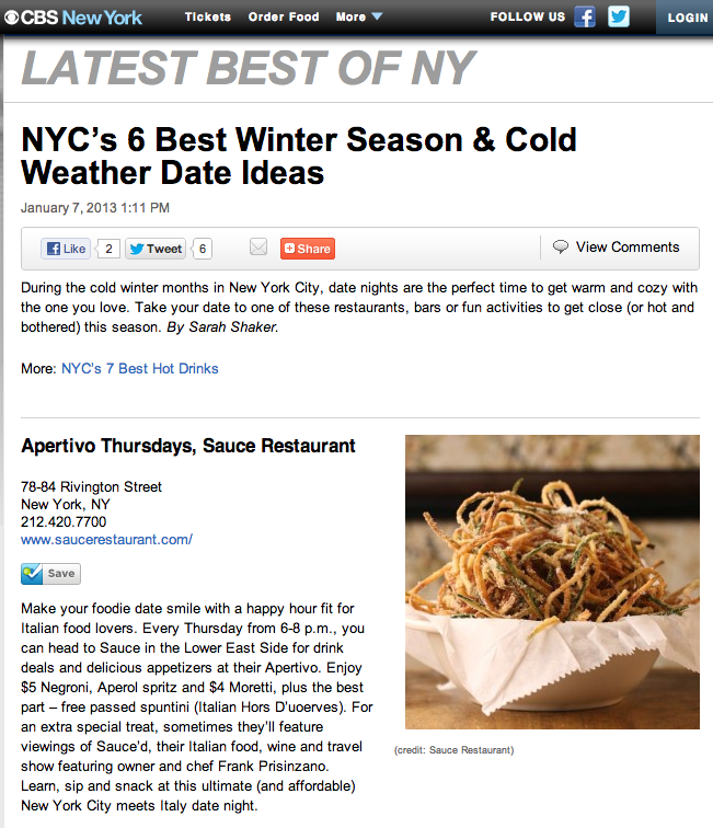 Winter date ideas nyc