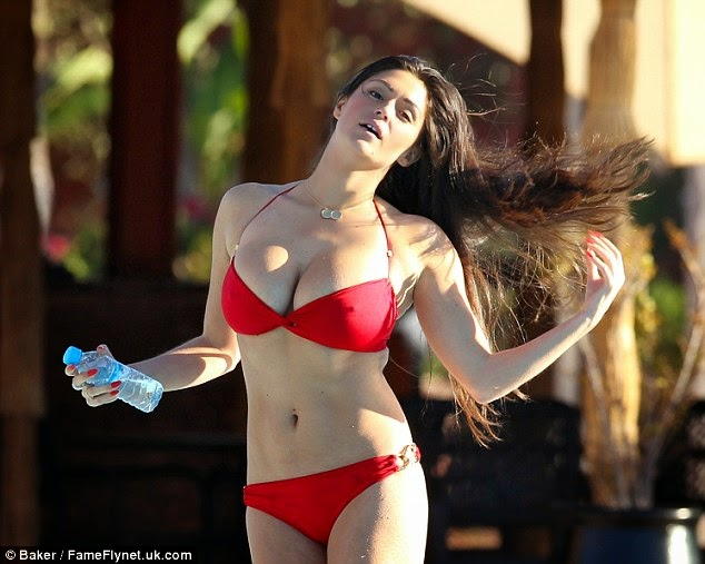 Casey Batchelor sexy bikini candids in Ibiza photo 7