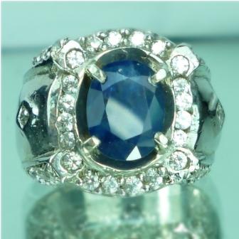 Batu permata natural blue sapphire, safir biru, batu mulia asli