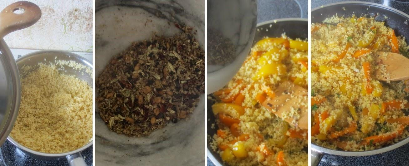 Zubereitung Gebratene Hirse mit Paprika