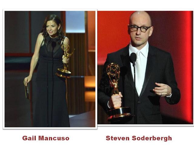 Gail Mancuso y Steven Soderbergh. Mejores directores Emmy 2013